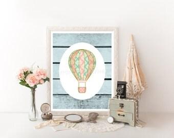 Hot Air Balloon Decoration, Hot Air Balloon Nursery, Hot Air Balloon Printable, Hot Air Balloon Decor, HotAir Balloon, Hot Air Balloon 0215