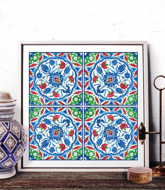 moroccan tile design home decor mosaic tile design watercolor art