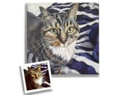 painting from photo custom pet portrait on canvas hand painted 11 x 14 or 12 x 12 dog cat