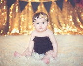 Gold Baby Headbands - Newborn Headbands - Baby Girl - Baby Bow - Baby Girl Headbands - Infant Headband - Gold Headband - Baby - Headbands