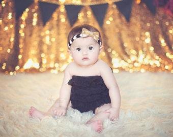 Gold Baby Headbands - Newborn Headbands - Baby Girl - Baby Bow - Baby Girl Headbands - Infant Headband - Gold Headband - Baby - Headbands
