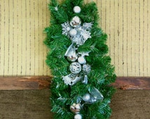 Christmas Table Decoration, Traditional Silver Wall Decor, Christmas Gift, Xmas Ornaments, Table Runner, Nchanted Gifts Australia