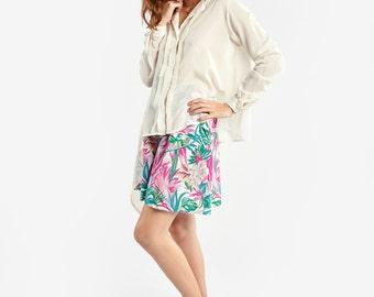 Lightweight Cream Asymmetrical Shirt