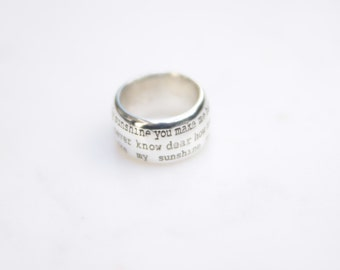 YOU are MY SUNSHINE ring. Sterling Silver jewelry made in Australia