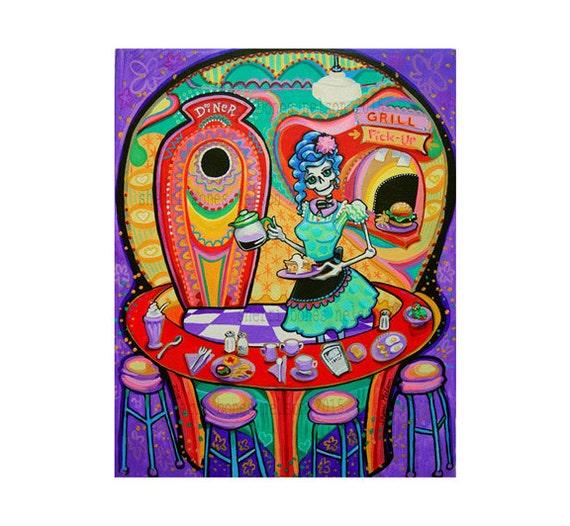 Kitchen Folk Art: Original Day Of The Dead Art Kitchen Catrina By BonesNelson