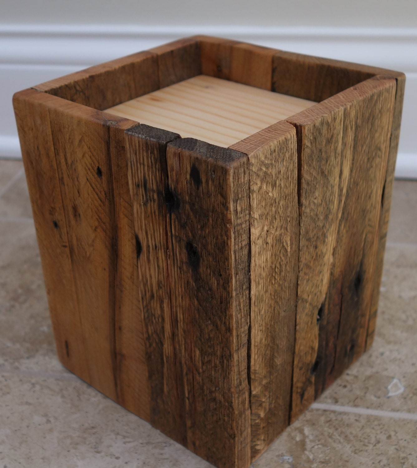 Reclaimed wood furniture bed risers handmade made to for Furniture risers