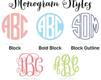 2 Inch Monogram DECAL - Yeti Monogram - Tumbler Monogram - Monogram Sticker - Monogram Car Decal