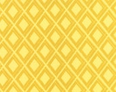 Yellow Geometric Ikat fabric by V and Co for Moda Fabrics
