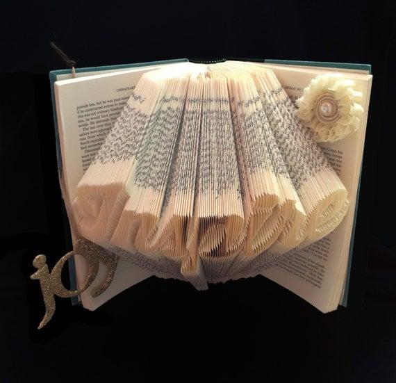 Folded Book Art, Graduation Gift, Retirement Gift, Wedding Gift, Gift ...