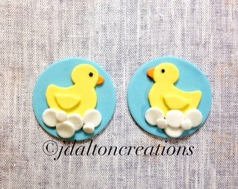 12 Rubber Duck Fondant Toppers