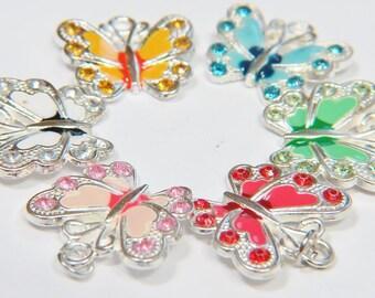 Silver Butterfly Necklace , Butterfly Necklace, Blue Butterfly Charm, Blue Butterfly Necklace, Personalized Necklace, Butterfly Jewelry