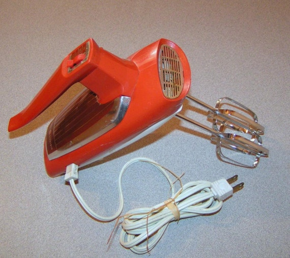 Electric Hand Blender ~ Sale vintage speed orange ge general electric hand mixer