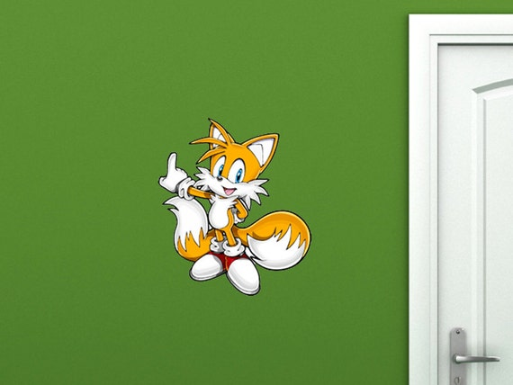 Sonic tails sega nintendo wall decal removable reusable by wallhub - Sonic wall decals ...