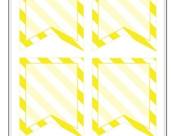 BF023- Stripe Flags- Yellow