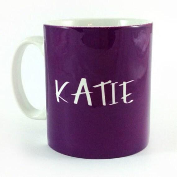 tasse mug personnalis violet personnaliser avec n 39 importe. Black Bedroom Furniture Sets. Home Design Ideas