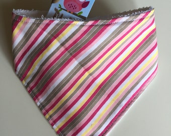 Colored stripes bandana bib