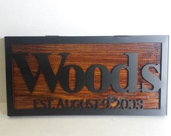 Personalized Family Name Sign, Family Name Sign, Established Sign, Custom Name Sign, Wall Art