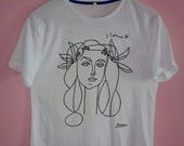 Picasso Woman Sketch T Shirt
