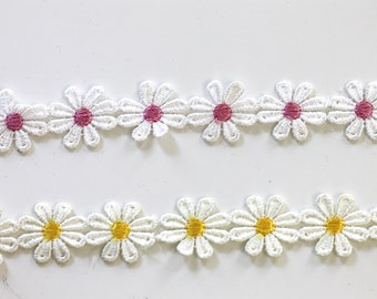 Daisy Embroidery Flower Trim Wholesale