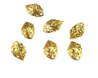 Gold Leaf Charm Beads DIY Pendants