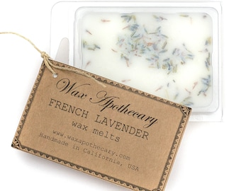 French Lavender botanical Wax Melt / Wax Tart by Wax Apothecary