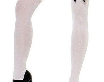 Thigh High Tights with Black Bows