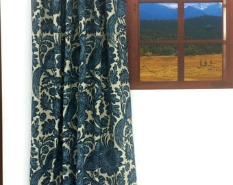 Waverly SNS Tucker Resist Chambray High End Lined Drapes (SOLD in PAIRS)