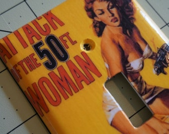 Attack Of The 50ft. Woman 1958 Movie Light Switch Plate/Cover