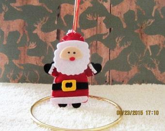 Christmas Ornament, Felt Ornament,  Santa Ornament, Christmas Tree Ornament, Santa ornament, Santa Claus Ornament