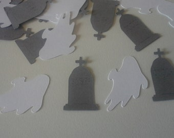 Halloween Confetti Ghosts & Tombstone - Set of 100 - Table Confetti