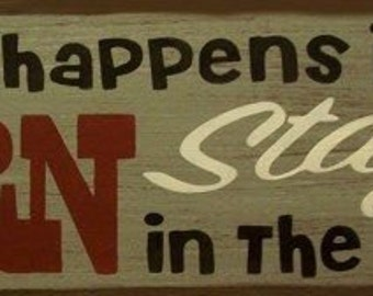 What Happens In The Barn Stays In The Barn Primitive Rustic Distressed Country Wood Sign Home Decor