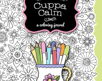 The Coloring Cafe™ Coloring Book Journal Cuppa Calm for Grown-Ups