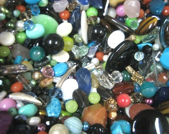 Assorted Stones, Crystals, and Beads - 1lb (16oz)