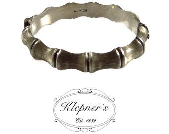 Sterling Silver Vintage Bamboo Bangle