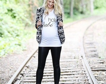 Hola Bebe Maternity Shirt,Pregnancy Announcement Shirt, Pregnancy Announcement, Gender Reveal, Baby Announcement, Gender Reveal Shirt