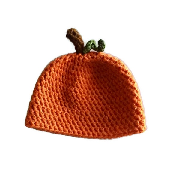 baby Pumpkin Crochet Hat ( custom sizes), Baby Photo Prop