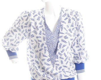 50% Off Border Me Blue Vintage Blouse
