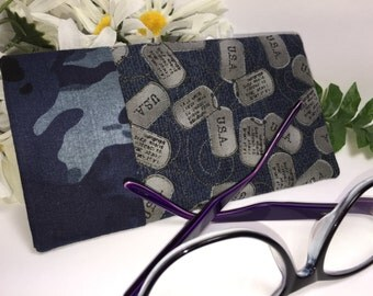 US Army Glasses Case, Eyeglass Case, Dog Tags, Glasses Pouch, Slip Style, Sunglasses Case, Affordable Glasses Case