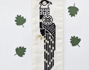 Art Deco cross stitch pattern. Art Deco bird. Art Deco cross stitch. Cross stitch bird. Cross stitch chart. Modern cross stitch.