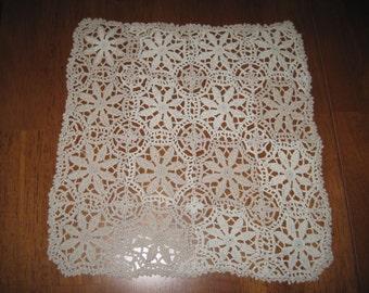 Vintage crochet doily linen
