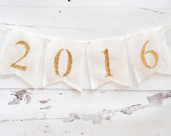 New Year's Eve Decoration, New Year's Eve Banner 2017, Happy New Year 2017 Banner, New Year Banner B008