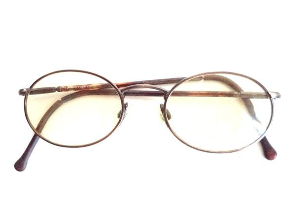 Glasses Frames For Small Oval Face : Giorgio Armani Eyeglasses Vintage Small Oval Flex Arm Oxford