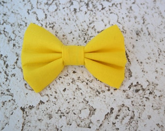 yellow clip on bowtie, infant, toddler