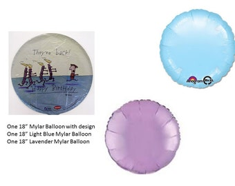 Running Candles Birthday Mylar Balloon with Solid Color Mylar Balloons