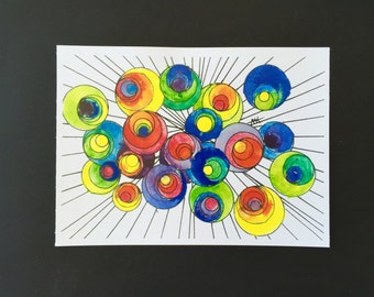 Color Burst Abstract Art