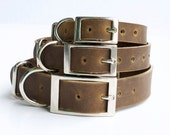 Dog Collar, Leather Dog Collar, Personalized Leather Dog Collar
