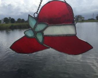 Red Hat Society Stained Glass