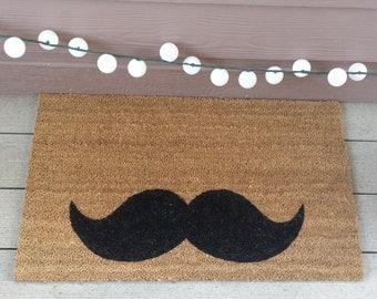 Mustache Door Mat