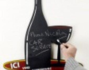 Wine bottle & Glass - Blackboard