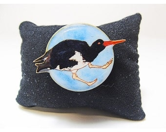 Moorcombe Oyster catcher Brooch